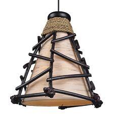 GOLDEN YOMO Deckenlampe Pendelleuchte BALI LAMPE handgefertigt 25cm hoch