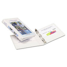 Durable View Binder with Round Rings, 5 1/2 x 8 1/2, 1/2'', White