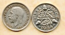 `50% silver 3d Three Pence coin 1934 Very Fine for collecting or invest in silvr