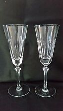 "Lenox Hanover 2 Fluted Champagne Glasses 8 1/4"" Crystal Stemware"