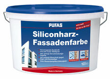 PUFAS Siliconharz-Fassadenfarbe, 10L - Weiß