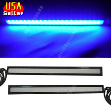 2x Super Ultra Blue Waterproof Car COB LED DRL Fog Driving Lights Lamp DC 12V