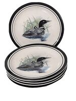 5 Loon Lake By Scotty Z Folkcraft Stoneware Salad Dessert Plates Discontinued