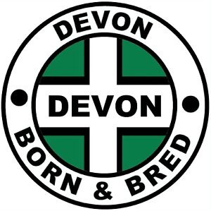 DEVON BORN & BRED - NOVELTY CAR / WINDOW / DECAL STICKER + 1 FREE / FLAG / GIFTS