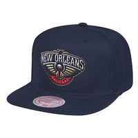 Men's Mitchell & Ness Navy NBA New Orleans Pelicans Team Ground Snapback