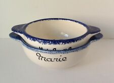 2 Quimper France Lugged Child's Soup Cereal Bowls MARIE & MICHAEL