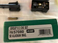 """Thompson Contender 14"""" Barrel in .50 Alaskan Mag with dies, load data & brass"""