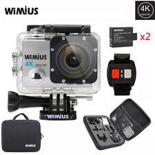 Wimius 4K Action Sports Camera waterproof WiFi 1080P 16MP DV DVR + Gopro Bag Q3