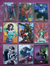 Marvel Masterpieces 2007 Spider-Man Chase cards Set X9 1:4 SkyBox VFN