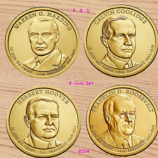 2014 P+D Presidential Dollar 8-Coin Set -  Coolidge Harding Hoover Roosevelt