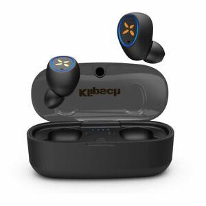 Klipsch S1 True Wireless earphones including wireless charging pad