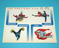 DC COMICS PREVIEWS FILE UNCUT PROMO SHEET 1993 SUPERGIRL BOY STEEL ERADICATOR