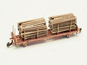 FR Z-scale Swedish TÅGAB Timber Car class Kbps-X made in metal