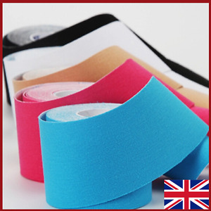 2 Rolls 5cm x 5m Kinesiology Tape KT Muscle Strain Injury Support Physio Sports