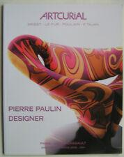 PIERRE PAULIN  Vente Artcurial 2008