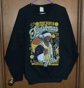 KOBE BRYANT  Merry Swish-mas Christmas Sweatshirt Vintage XL  RARE Lakers