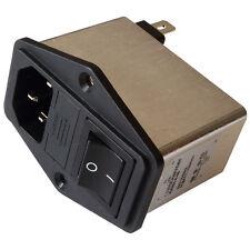 Schaffner FN284-6-06 Netzfilter 250V AC 6A IEC Inlet-Filter Fuse Switch 855208