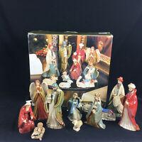 Kirkland Nativity Set 071371 Christmas Baby Jesus Manger Scene 11 piece Complete