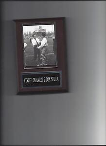 VINCE LOMBARDI & DON SHULA PLAQUE WASHINGTON REDSKINS FOOTBALL NFL