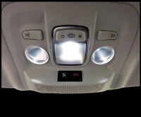 3 ampoules à LED Plafonnier avant lampe de lecture blanc pour Peugeot 208