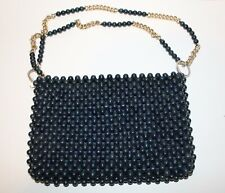 """Navy Blue Bead Handbag """"It's In The Bag"""" made in Japan Exclusively for Ritter"""