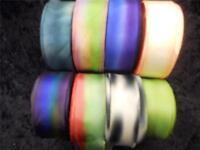 "100% Silk Ribbon-Hanah Hand-Dyed, Bias-Cut 1"" Wide Priced per Yard"