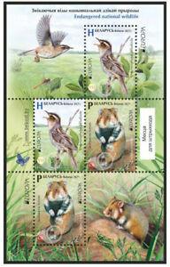 Belarus 2021 EUROPA national wildlife nationale Tierwelt Vogel Hamster Block