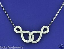 14k Solid White gold  0.40 ct Infiniti Natural Diamond Necklace  Figure 8