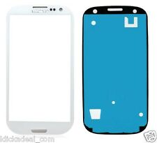 Galaxy S3 SIII I9300 I9305 LCD Glas Touch Screen Front Glass Weiß + Kleberahmen