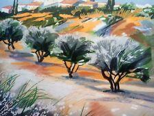 Ella Fort - Chemin du Olivers - Farblithografie -