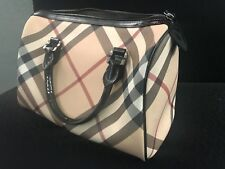 Burberry Nova Check Bowling Bag length12 1/2 inches -height 8 inches -width 61/2