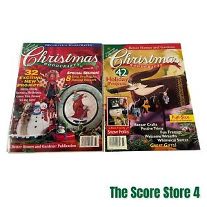 Better Homes & Gardens Christmas Woodcrafts Magazine Lot 96 & 98 Preowned