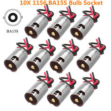 10x 1156 BA15S LED Bulb Connector Socket Harness For Turn Signal Brake Light