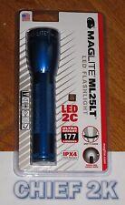 MAGLITE 2-C LED Flashlight Blue Maglight TWIST ON/OFF ML25LT