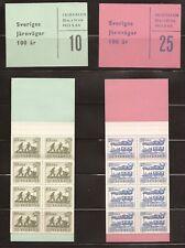 Sweden #497a-498a set Mnh Vf Complete Booklets