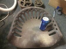 Antique Cast Iron Tractor Seat, Hinged with Toolbox Below