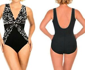 ☀️ New MIRACLESUIT Size Aus 14 Diamond Twist SLIMMING Swimsuit Bathers Togs
