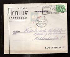 Netherlands  1941/2  ROTTERDAM FOOTBALL soccer CLUB postage due cover Aeolus
