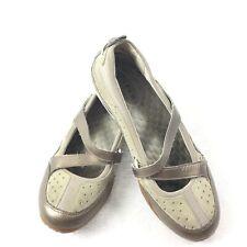 Clarks Privo Mary Janes Size 7.5 Womens Tan Beige Comfort Ballet Flats 7 1/2