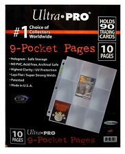 Ultra Pro Platinum 9 Pocket Hologram Pages for card storage, 10 page pack