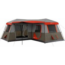 12 Person Large Cabin Tent Family Camping Instant 3 Room L-Shaped Outdoor Huge