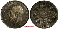GREAT BRITAIN George V Silver 1916 Florin 2 Shillings WWI Issue Toned KM# 817