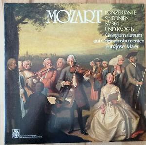 COLLEGIUM AUREUM Konzertante Sinfonien KV 364 + KV 297b | LP MOZART