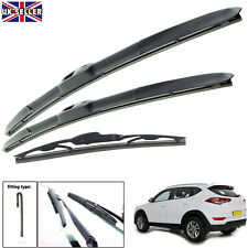 "Hyundai Tucson 2015-on hybrid wiper blades set of front & rear 26""16""14"""