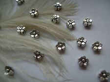 50 LOVELY LITTLE TIBETAN SILVER FLOWER SPACER BEADS BEADS 5mm