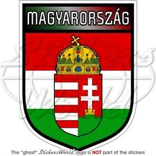 "HUNGARY Magyarország Shield Hungarian Magyar 4""(10cm) Vinyl Bumper Sticker Decal"