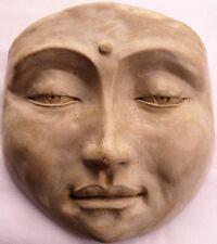 Healing Buddha Mask, Calming Wall Art Feng Shui Home Decor, Hanging Sculpture