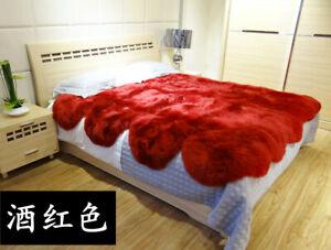 The whole sheepskin mattress keeps warm in winter, 1.8 meters foldable