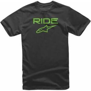 NEW Alpinestars Ride 2.0 Kids Casual T-Shirt - Black/Green from Moto Heaven