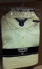 French Toast Long Sleeve Yellow Polo Uniform Shirt, Size 20 Prep, NEW